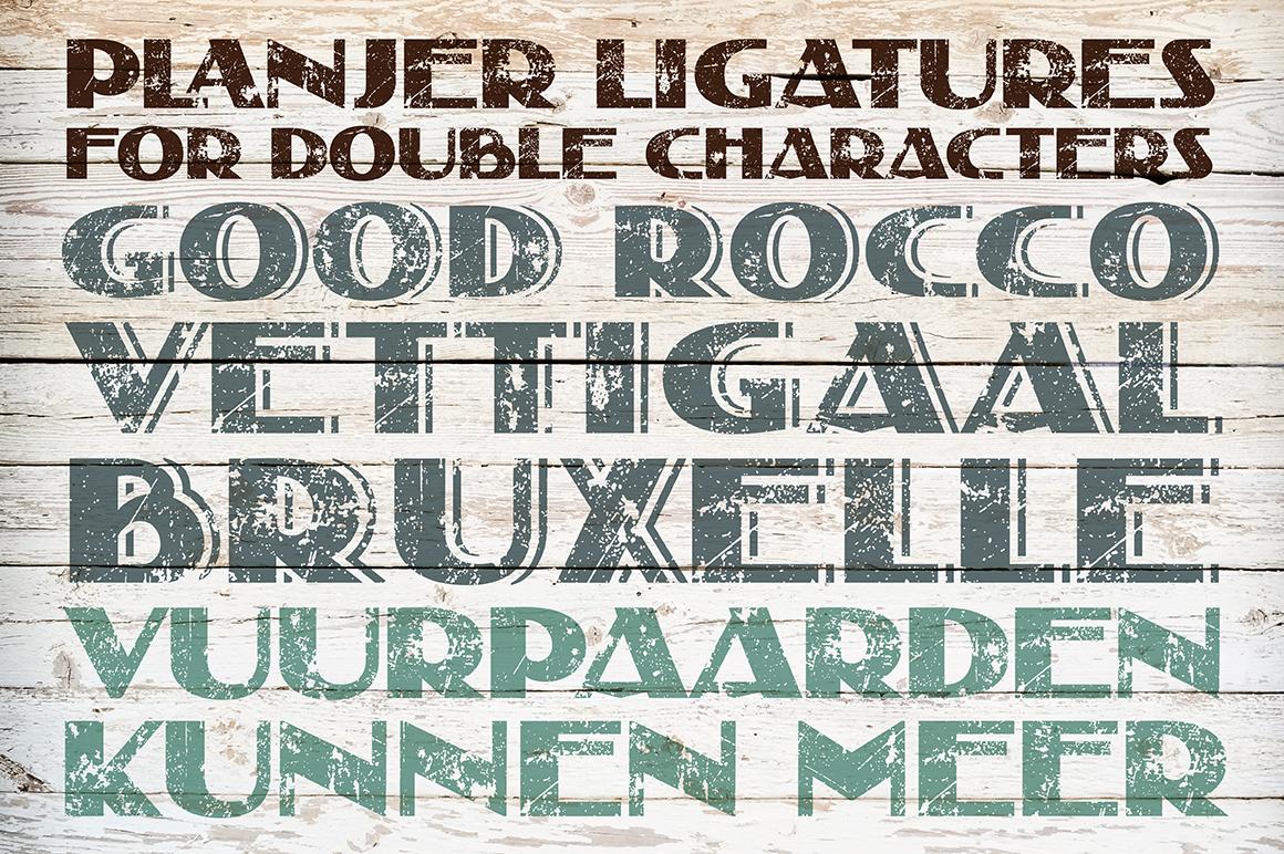 Distressed Grunge Font Planjer