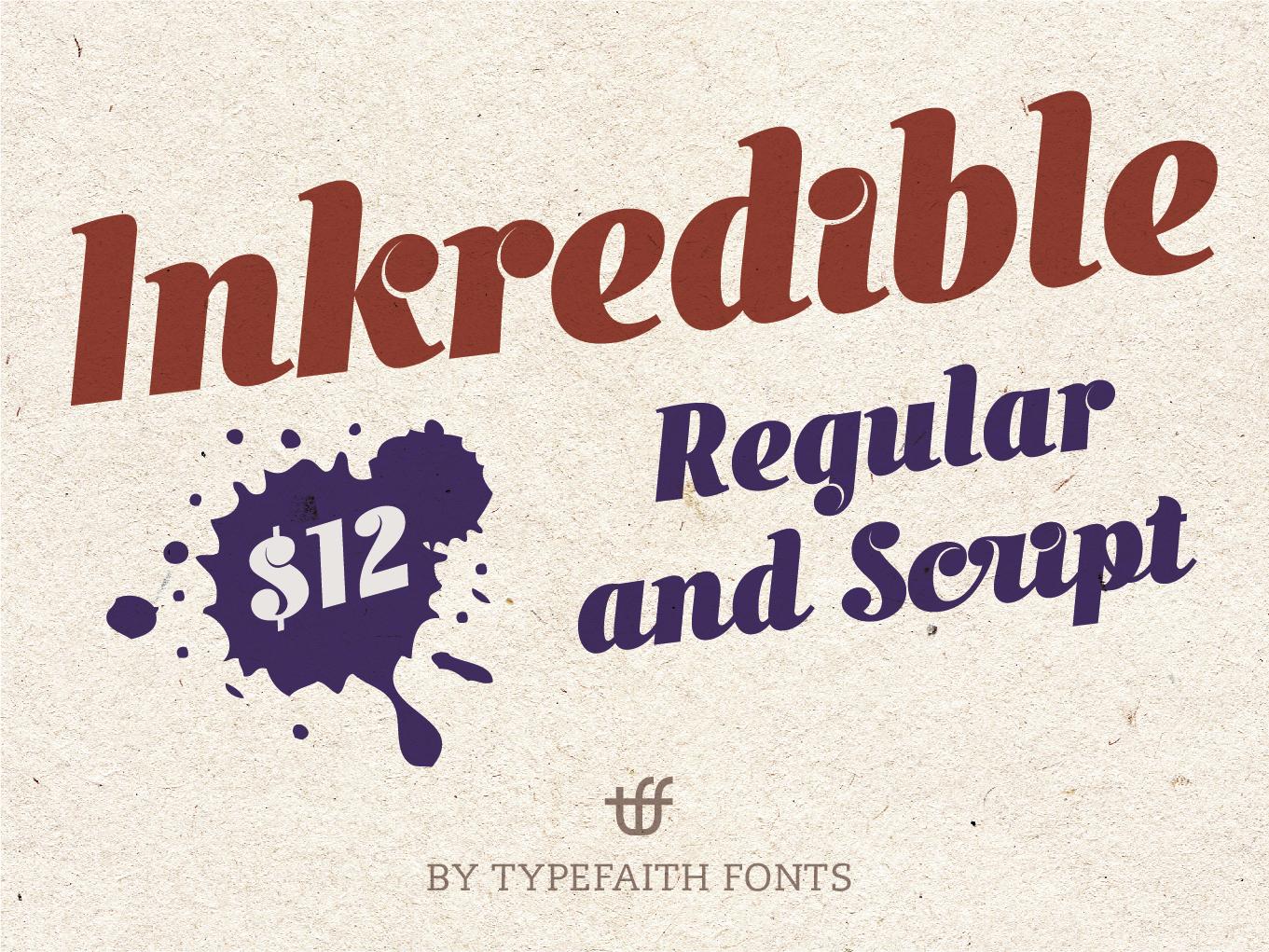 Inkredible Leon Hulst TypeFaith Fonts